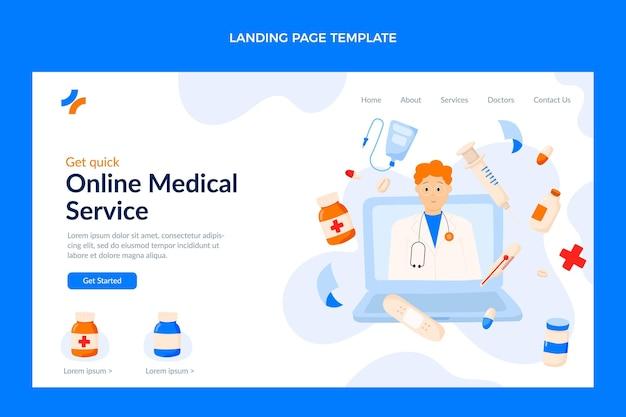 Page de destination médicale plate