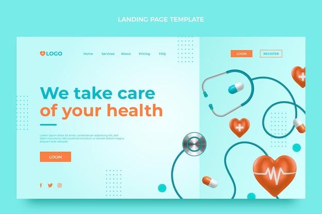 Page de destination médicale réaliste