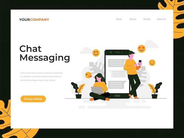 Page de destination de la messagerie instantanée