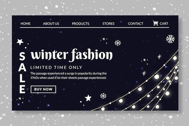 Page de destination de la mode hiver