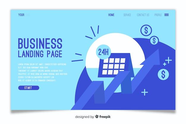 Page de destination de modèle d'entreprise