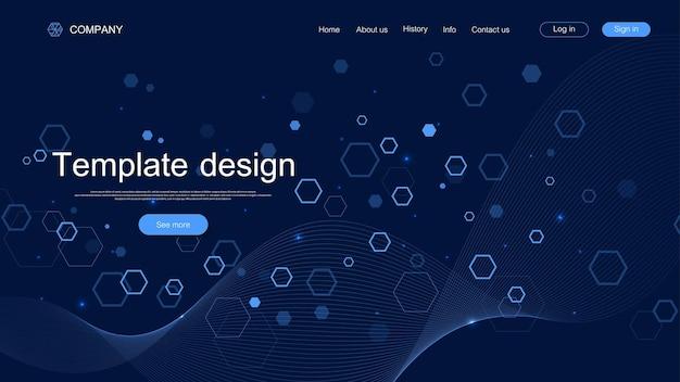 Page de destination moderne pour les sites web ou les applications