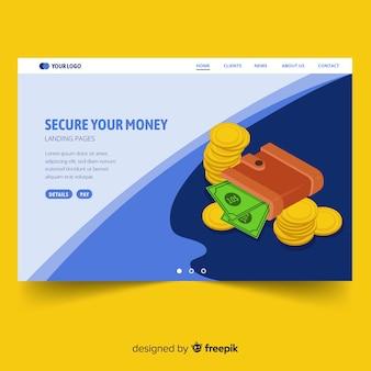 Page de destination de la monnaie