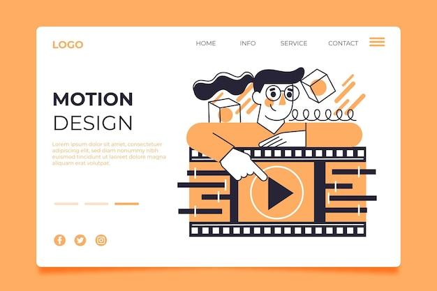 Page de destination motiongraphics