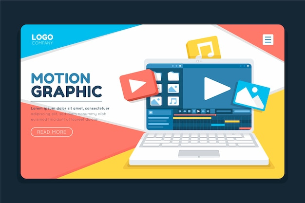 Page de destination motiongraphics
