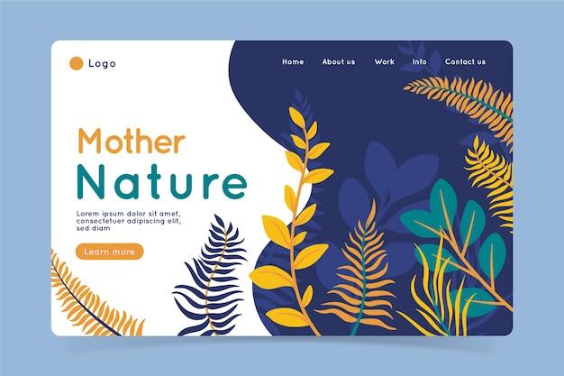 Page de destination nature dessinée à la main