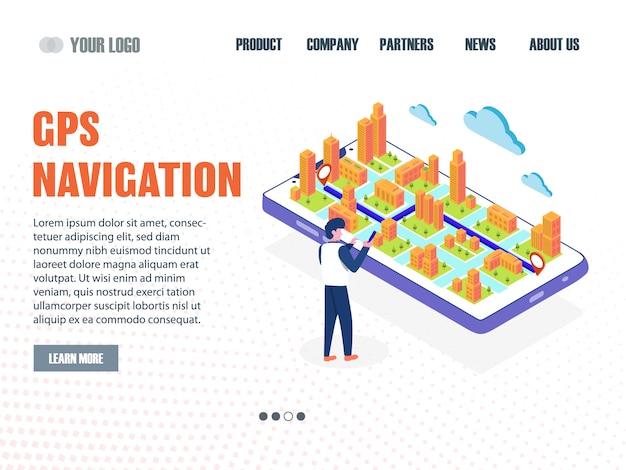 Page de destination de navigation gps