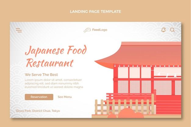 Page de destination de nourriture dessinée à la main