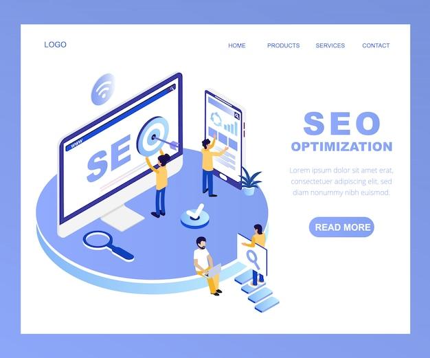 Page de destination de l'optimisation des moteurs de recherche