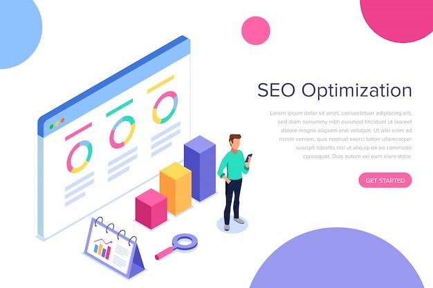 Page de destination d'optimisation seo