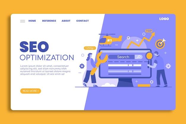Page de destination de l'optimisation seo