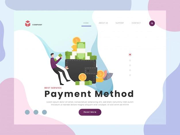 Page de destination de paiement
