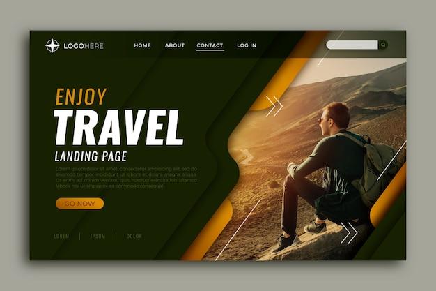 Page de destination avec photo