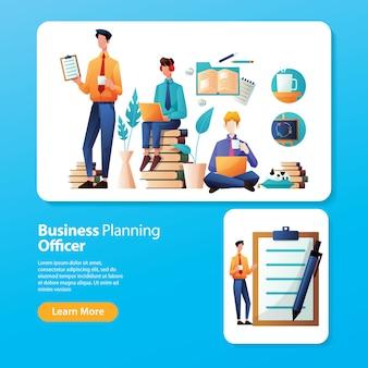 Page de destination de la planification des activités