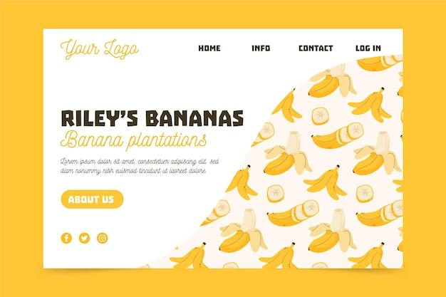 Page de destination de la plantation de bananes