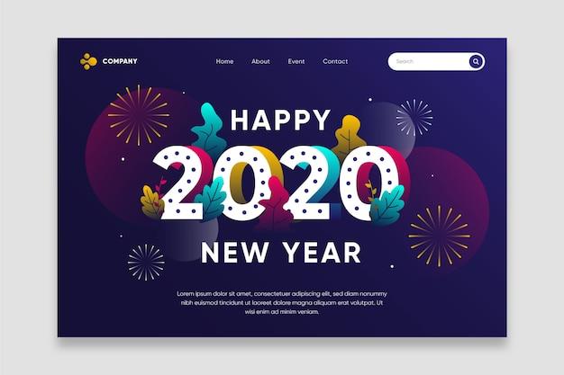 Page de destination plate nouvel an