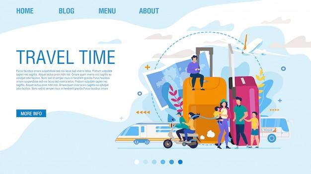 Page de destination plate offrant un temps de voyage passionnant