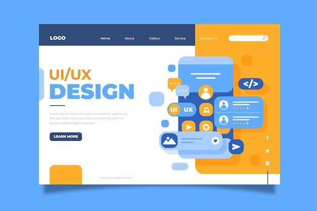 Page de destination plate ui/ux