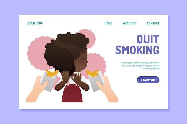 Page de destination pour arrêter de fumer