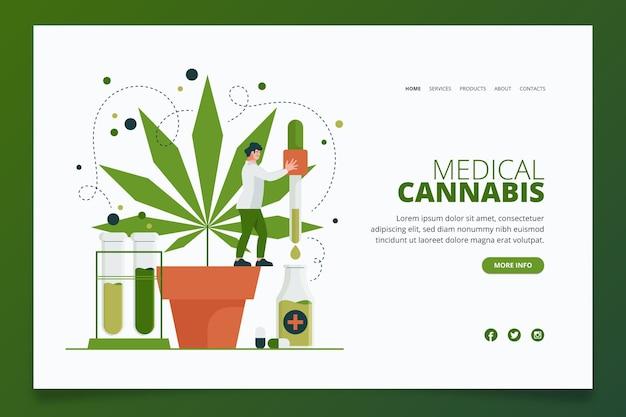 Page De Destination Pour Le Cannabis Médical Vecteur gratuit