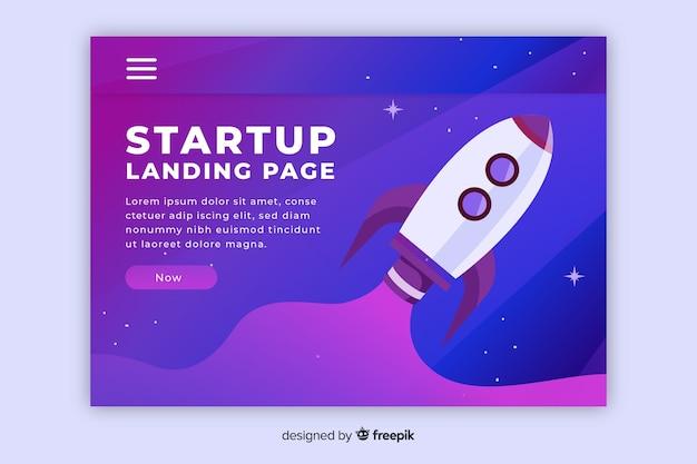 Page de destination pour le démarrage d'une entreprise