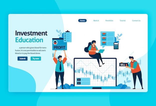 Page de destination pour l'éducation à l'investissement