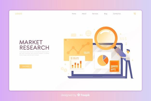 Page de destination pour étude de marché