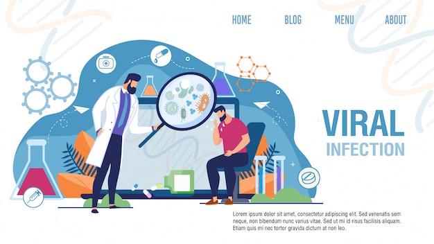 Page de destination pour le traitement des infections virales médicales