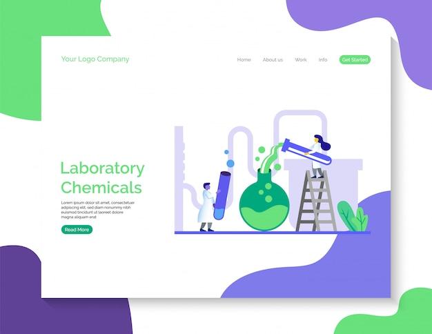 Page de destination des produits chimiques de laboratoire