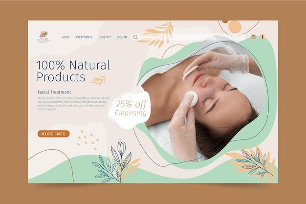 Page de destination des produits cosmétiques