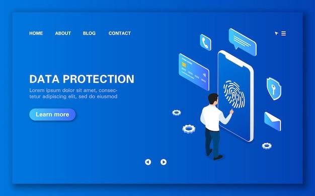Page de destination sur la protection des données
