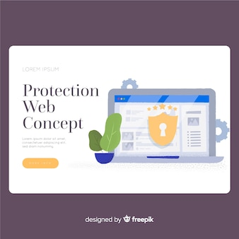 Page de destination de la protection web