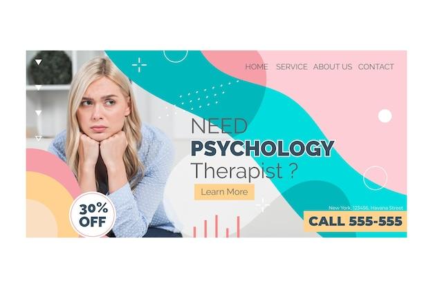 Page de destination de la psychologie