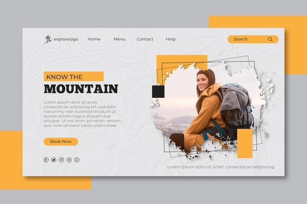Page de destination de la randonnée