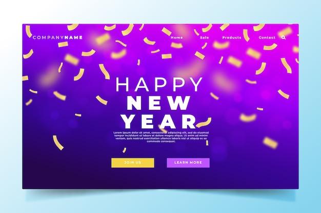 Page de destination réaliste du nouvel an