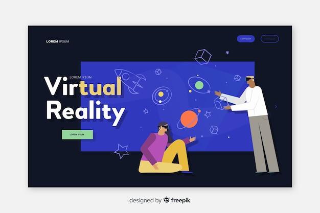 Page de destination de la réalité virtuelle