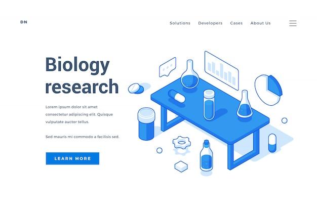 Page de destination de la recherche en biologie