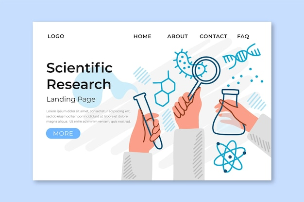 Page de destination de la recherche scientifique