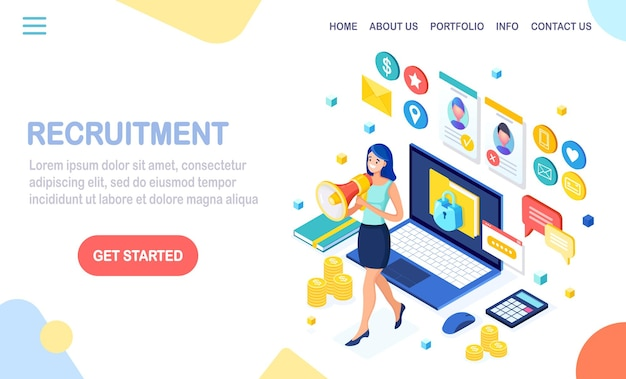 Page de destination de recrutement