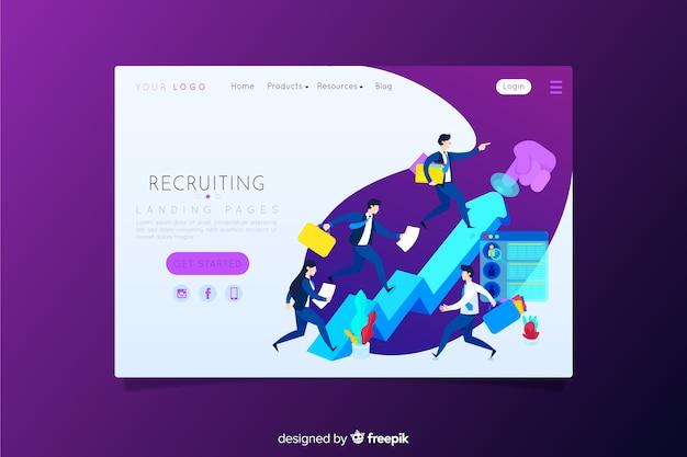 Page de destination de recrutement