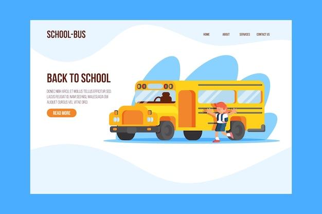 Page de destination retour au concept d & # 39; école