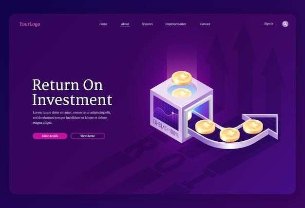 Page de destination de retour sur investissement