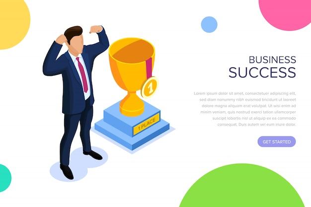 Page de destination de réussite commerciale