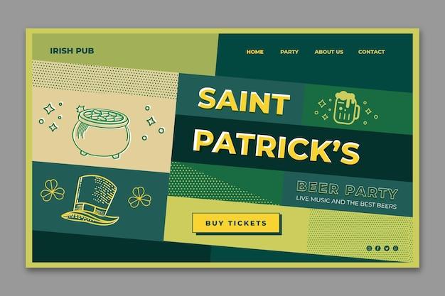 Page de destination de la saint-patrick