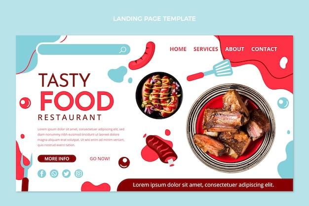 Page de destination de saucisses savoureuses au design plat