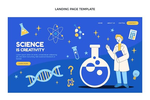 Page de destination de la science du design plat
