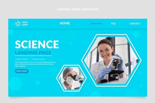 Page de destination de la science plate