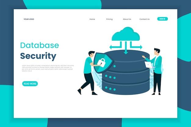 Page de destination de la sécurité de la base de données