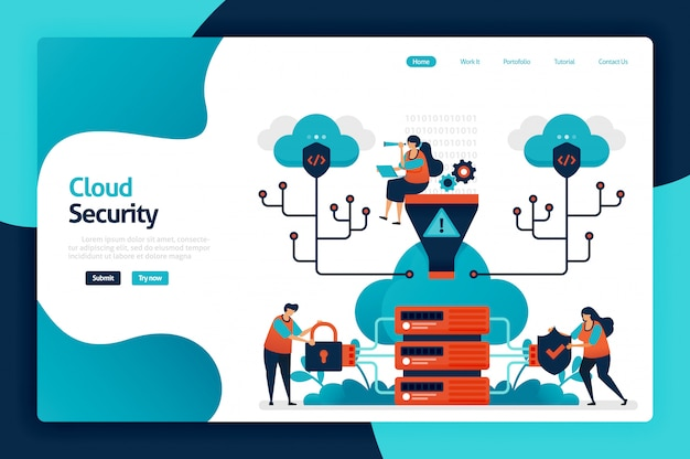 Page de destination de la sécurité cloud