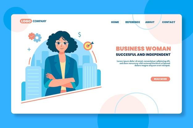 Page de destination de seo femme d & # 39; affaires